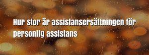 Hur stor är assistansersättningen för personlig assistans