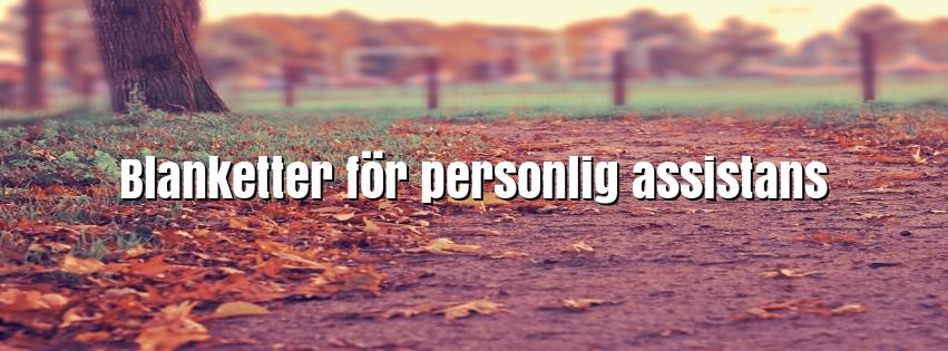 Här hittar du de vanligaste blanketterna för personlig assistans